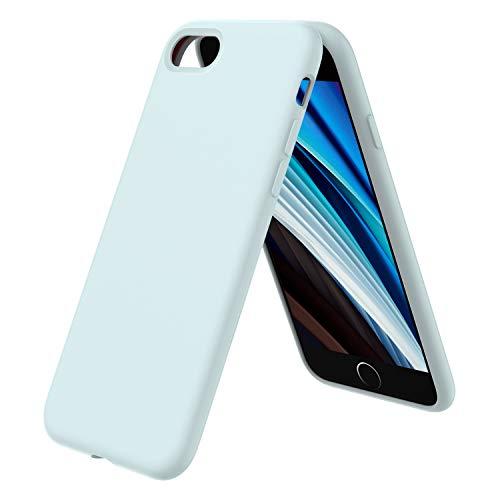 ORNARTO iPhone SE(2020) Silikon Case, iPhone 7/8 Hülle Ultra Dünne Voller Schutz Flüssig Silikon Handyhülle Schutz für iPhone 7/8/ SE(2020) 4,7 Zoll -Meerschaum