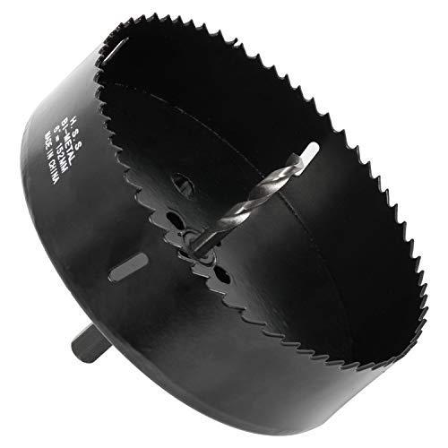HSS M42 Bi-Metall Lochsäge Ø 152 mm Lochsägenbohrer-Set Bohrkrone mit Zentrierbohrer für schnell und glatt Schneiden Plastik, dünn Metall, Holz, Gipskartonplatte