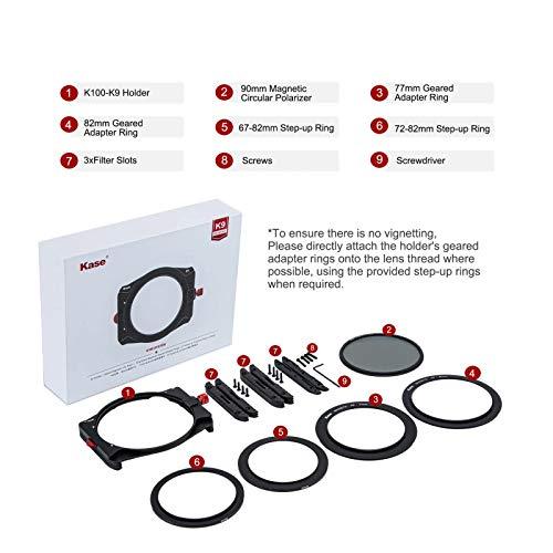 KASE Filter K9 filter holder kit I incl. magnetic rotating 90 mm CPL polarising filter I lightweight...