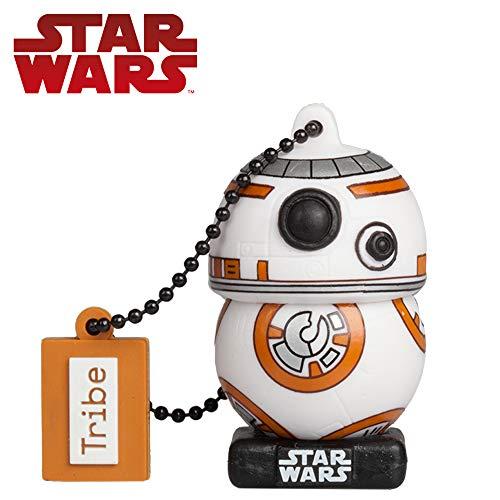 Tribe Star Wars 8 BB8 USB Stick 32 GB Speicherstick 2.0 High Speed Pendrive Memory Stick Flash Drive, Lustige Geschenke 3D Figur, USB Gadget aus Hart-PVC mit Schlüsselanhänger