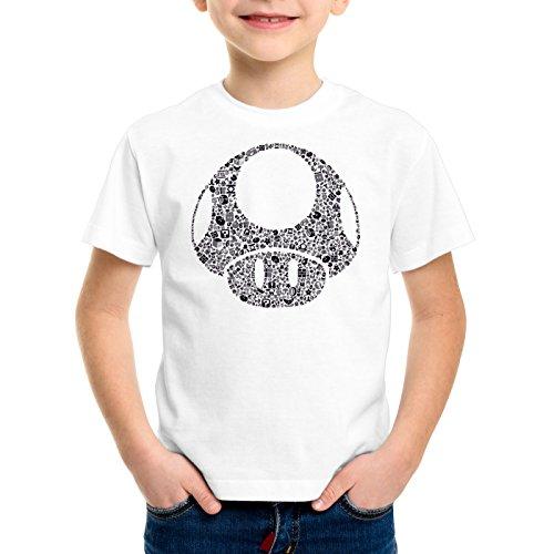 A.N.T. Another Nerd T-Shirt A.N.T. Super Toad Play Kinder T-Shirt Mario Pilz Game Gamer, Farbe:Weiß;Größe:152