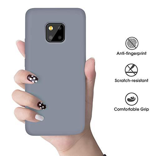 Huawei Mate 20 Pro Hülle Silikon, Abitku Dünn Licht Glatt Stoßfest Schutz Protective Handy Hülle für Huawei Mate 20 Pro (Lavender Gray) - 6