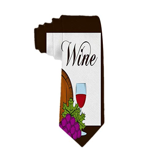Anna-Shop heren stropdas klassiek geweven business stropdas zijde das wijn drank alcohol hals stropdas