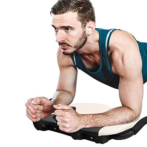U'king Multifunktions-Abs-Assistent , 4-in-1-Push-Ups-Rack-Board Bauchmuskel-Fitnessgeräte mit Digitalanzeige Gewichtsverlust Schlanke Taille für die Muskelformung zu Hause (White)