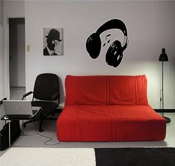 Giant headphones wall sticker
