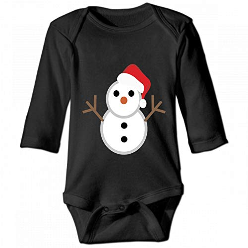 Christmas Hat Snowman Unisex Baby Round Neck Long Sleeve Bodysuit, Fashion Casual Baby Climbing Suit 6M