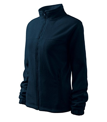 Damen Fleece Jacket Hochwertige Fleecejacke Anti-Pilling (L, Marineblau)