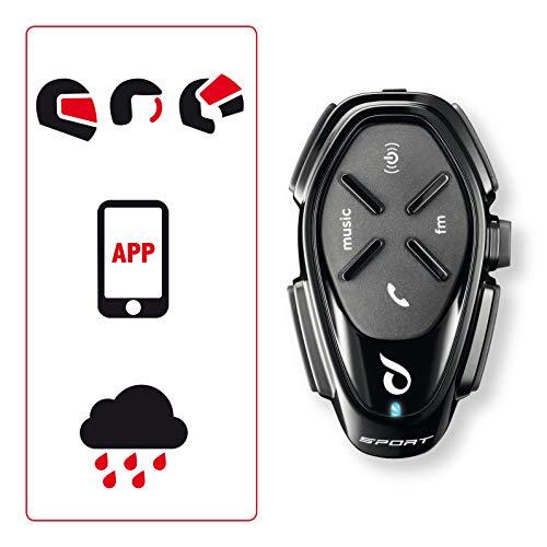 INTERPHONE INTERPHOSPORTTP Interfono da Moto con Bluetooth, Nero, 2