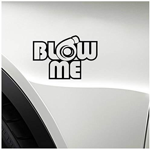 Etiqueta engomada del coche Cargador de turbina Etiqueta elegante de PVC para vidrio, cuerpo, parachoques, refrigerador 10.4x15.2cm (5pcs)