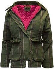 Walker & Hawkes Derby Tweed - Chaqueta de campo para mujer, diseño de rayas, color rosa