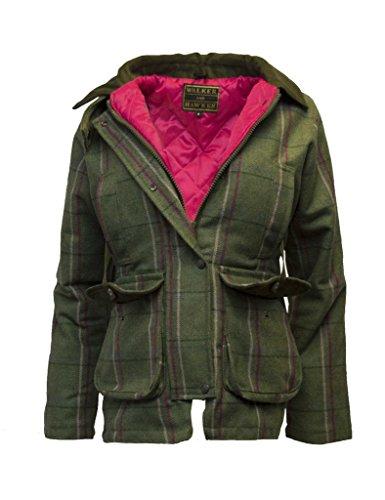 Walker and Hawkes Damen Country-Jacke aus Tweed - für die Jagd geeignet - Muster mit rosa Streifen - Größen 34 bis 50
