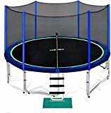 Zupapa 15 FT Trampoline for Kids with Safety Enclosure Net 375 LBS...