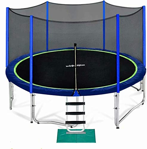 Zupapa 15 14 12 10 FT Trampoline for Kids with Safety Enclosure Net...