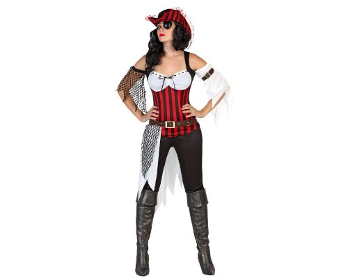 Atosa - 22906 - Costume - Déguisement Pirate Femme - Adulte - Taille 1