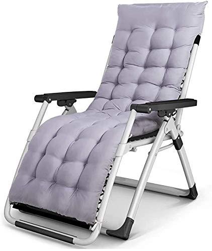 Suge Las sillas sillón reclinable plegable al aire libre Mueble Exterieur Mobilya Muebles de jardín Fauteuil Salon De Jardin Lit cama plegable Chaise (Color : Gray)