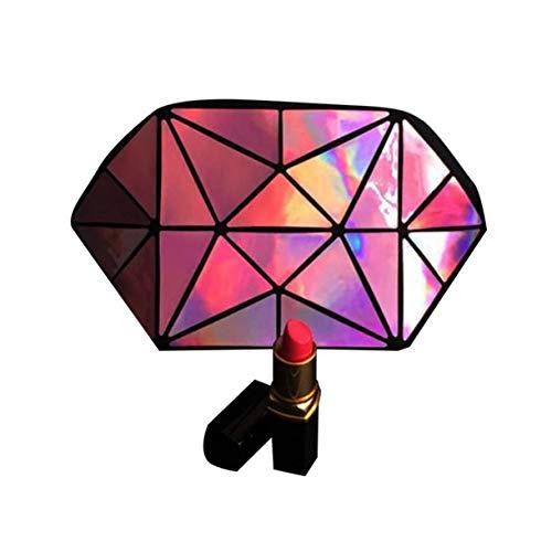 Laser Make-Up Taschen Umhängetasche Wristlet-Handtaschen-Bügel-Handy-Geldbeutel Geometric Luminous Kosmetik-Beutel Mit Reißverschluss