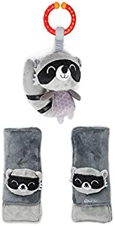 Diono Baby Harness Soft Wrap & Linkie Toy, Racoon