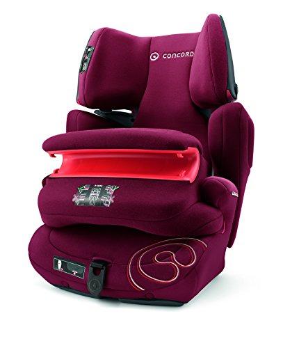 Concord Transformer Pro Siège Auto Groupe 1 2 3 Isofix, de 9 à 36 Kg, avec Ceinture de Protection Groupe 1, Couleur Bordeaux Red