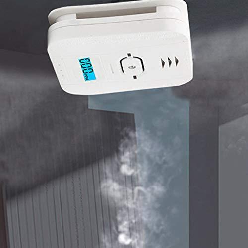 LEXIANG Profesión Seguridad en el hogar Monóxido de Carbono + Humo + Temperatura Sensor de Gas de Humo de envenenamiento Detector de Alarma de Advertencia Pantalla LCD