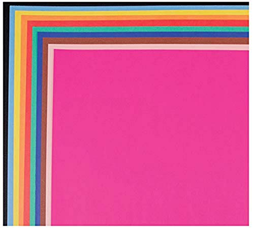 School Smart 1485739 Railroad Board, 4-ply Thickness, 22' x 28', Assorted Color (Pack of 25)