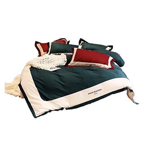 Duvet Covers Bettbezug Bettwäsche 4 Stück Komplett-Set enthält X1 Bettbezug X2 Kissenbezüge und X1 Spannbettlaken GCSQF (Size : 1.8 m (6 ft))