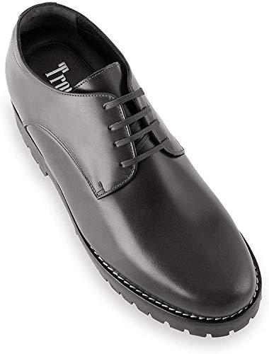 Masaltos Schuhe Herrenschuhe Die auf Unsichtbare Weise Ihre Körpergrösse bis zu 7 cm Erhöhen. Herrenschuhe mit Verstecktem Absatz. Modell Tormo Schwarz 39