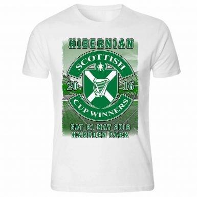 Hibernian FC 2016 Schots Beker Winnaars T-Shirt
