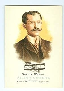Orville Wright trading card (Inventor of Flight Planes) 2006 Topps Allen Ginters #338