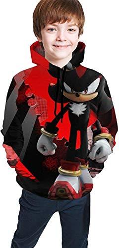 dgfgad Childrens Hoodies Sonic-The Hedg-Ehog 3D Print Unisex Pullover Hooded Sweatshirts for Boys//Girls//Teen//Kids