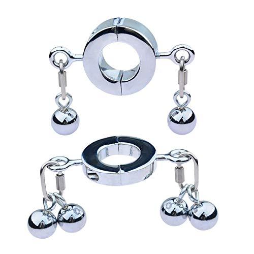 Extra Schwer Ball-Stretcher Edelstahl Hodenring - Metall Hodensack Anhänger Ball-Stretcher Ring