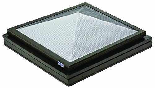 Sunoptics SUN R2020 PYL TGZ 50CC2 840B BZ 2-Feet by 2-Feet Triple Glazed Manually Venting Curb-Mounted Prismatic Pyramid Skylight, Bronze