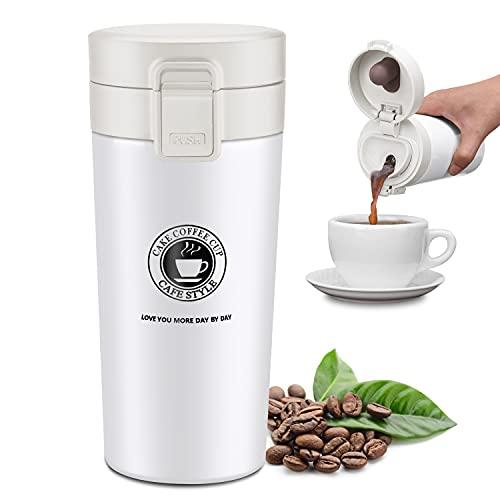 JEEZAO 380 ml Tazza Termica Viaggio caffè Thermo Bottiglia Acqua, Borraccia Acciaio Inox,Senza BPA