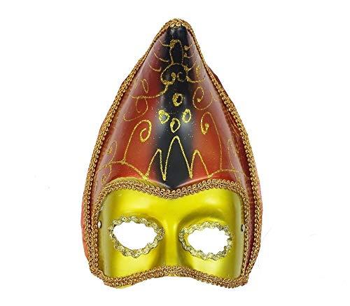Fiesta Palace - masque vénitien tête pointue doré