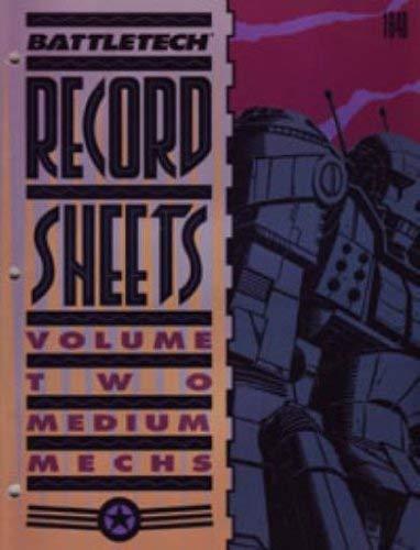 Battletech Record Sheets: Volume Two (Medium Mechs)