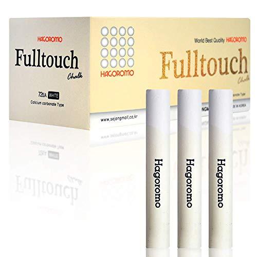 HAGOROMO Fulltouch Color Chalk 1 Box [72 Pcs/White]