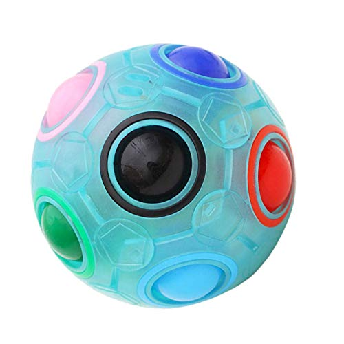 Rainbow Puzzle Ball, Magic Rainbow Ball Magic Cube Fidget Toy Magic Puzzle Fun Puzzle Education Toy for Kids and Adults