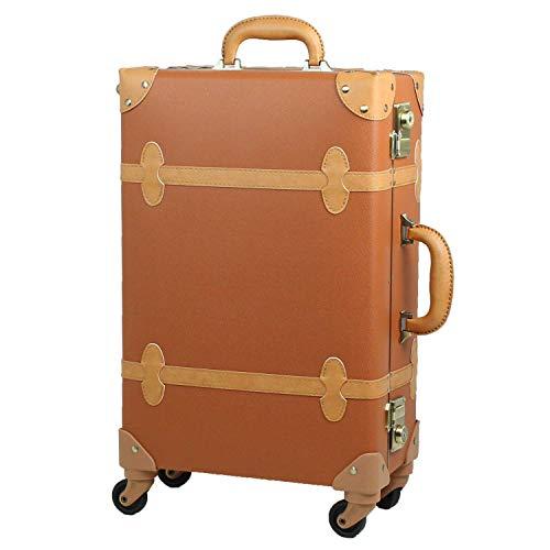 MOIERG(モアエルグ)キャリーバッグ キャリーケース スーツケース 軽量 [71-55063-72] (M, キャメル×ベージュ)