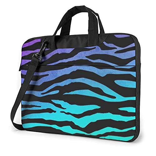 Hokdny Laptop Case Laptop Briefcases Farbige Tarnstreifen mit Zebrastreifen Notebook Bag High Quality Laptop Bag Dirt Water Resistant Laptop Bag with Accessory Compartment