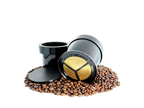 ZIP Premium Eintassen Goldfilter | Dauerfilter permanenter Kaffeefilter | BPA frei & spülmaschinengeeignet | 23 Karat Goldbeschichtung | Größe 1 Tassen | Nickelfrei | KF300