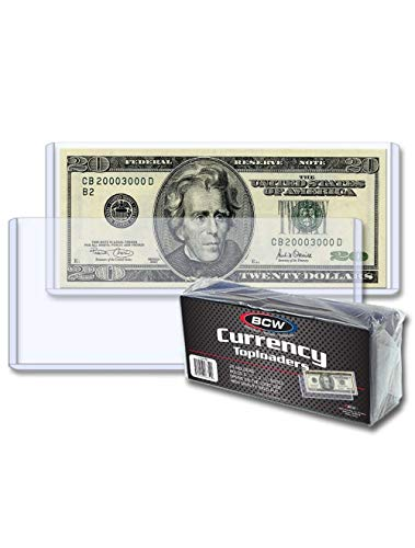 BCW Regular Bill Topload Currency Holders