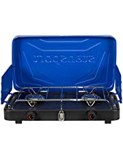 "Stansport 2-Burner Regulated Propane Stove - Blue, 10"" L x 18"" W x 4"" H"