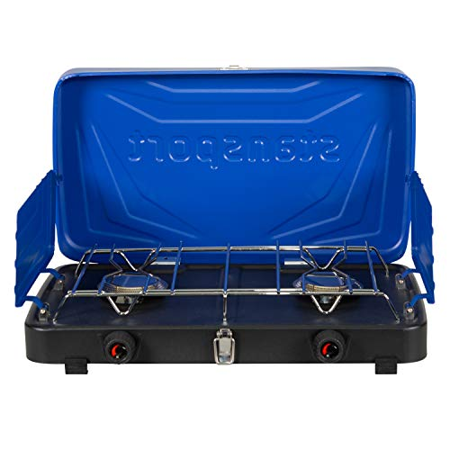 Stansport 2-Burner Regulated Propane Stove - Blue, 10