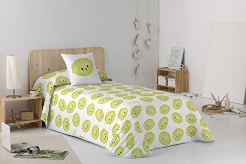 Cool Kids KAWANIMALS Tagesdecke Bouti Limon für Betten mit 105 cm Breite