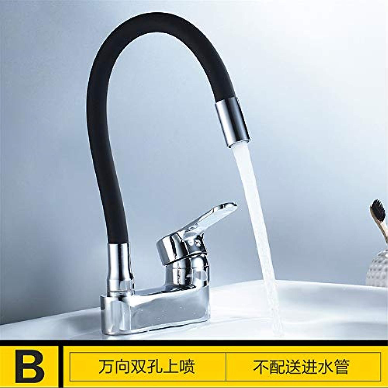 Yuanshuai2816-Faucet Kupfer-Krper-heies und kaltes Wasser-Küchen-Hahn Waschbecken-Mischbatterie