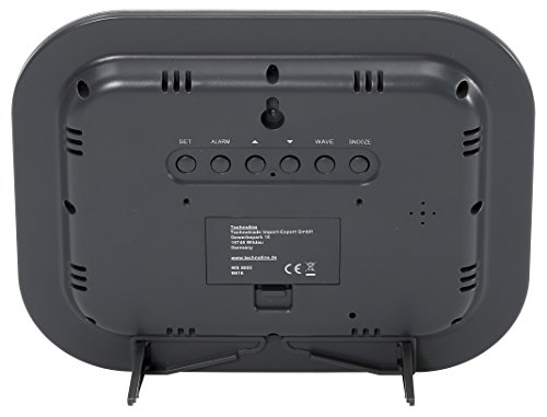 technoline WS 8005 Orologio Radio, Nero/Argento, 22.6x3x18 cm
