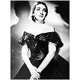 Yxbhhym Maria Callas Opernsängerin Schwarz Weiß Porträt