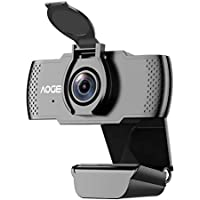 Aoge 1080P Web Cam with Mic & Privacy Cover