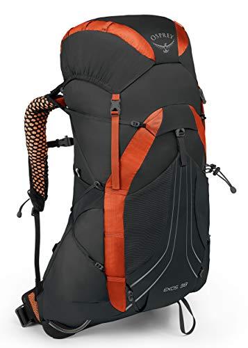 Osprey Exos 38 Men's Lightweight Hiking Pack - Blaze Black (LG)