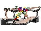 Betsey Johnson Women's LANNAH Sandal, Black Multi, 9