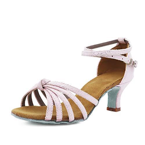 TRIWORIAE-Damen Tanzschuhe Latine High Heels Sandalen 39 Rosa (Talon-5cm),Rosa (Talon-5cm),39
